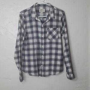 Current Elliott Boyfriend Plaid Shirt